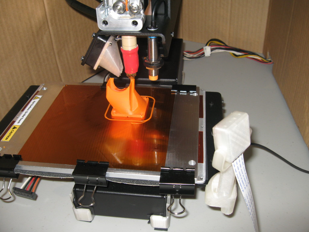 Heated Bed with Kapton Tape and gluestick
